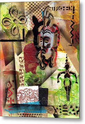Afro Aesthetic A  Metal Print by Everett Spruill