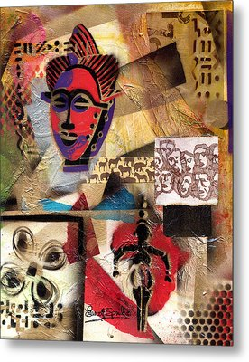Afro Aesthetic B Metal Print by Everett Spruill