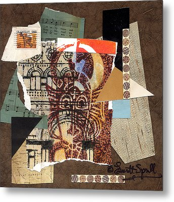 Afro Collage B Metal Print by Everett Spruill