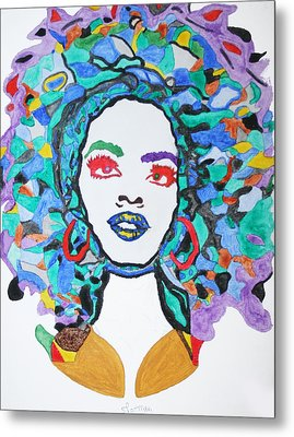 Afro Lauryn Hill  Metal Print