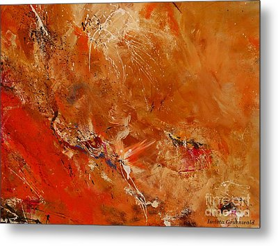 After A Long Time - Abstract Art Metal Print