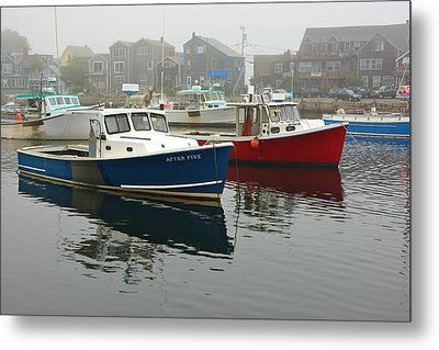 After Five  Rockport Harbor Metal Print by Gail Maloney