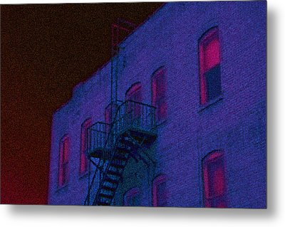 Metal Print featuring the photograph after hours glow -Seurat Style by Denise Beverly