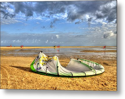 Metal Print featuring the photograph After Kiteboarding Session by Julis Simo