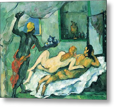 After Lunch In Naples By Cezanne Metal Print by John Peter