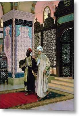 After Prayers At The Mosque Metal Print by Rudolphe Ernst