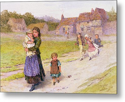 After School Metal Print by Henry Towneley Green