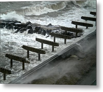 After Storm Sandy Metal Print by Joan Reese