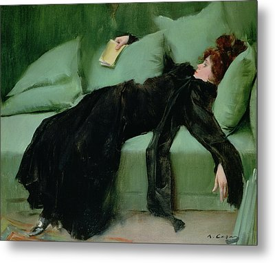 After The Ball  Metal Print by Ramon Casas i Carbo