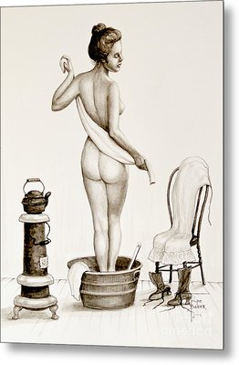 After The Bath 1890's Metal Print