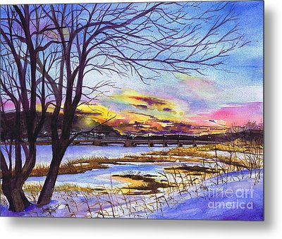 After The Blizzard Bayville Metal Print