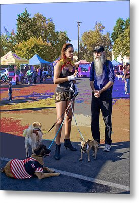 After The Halloween Dog Costume Contest Metal Print by Alice Ramirez