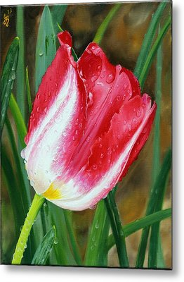 Metal Print featuring the painting After The Rain by Glenn Beasley
