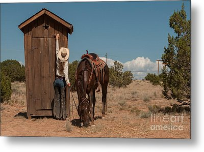 After The Ride Metal Print by Sherry Davis