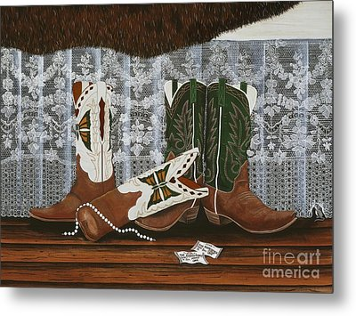 After The Rodeo Dance Metal Print by Jennifer Lake