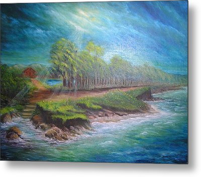 After The Storm Metal Print by Affordable Art Halsey