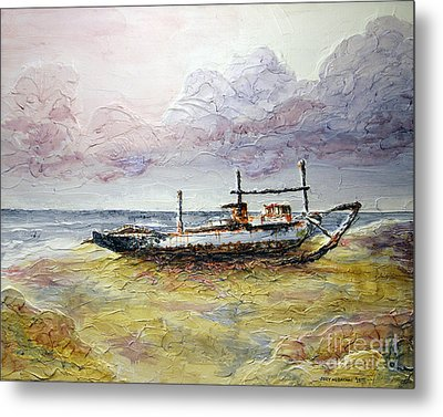 Metal Print featuring the painting After The Storm by Joey Agbayani