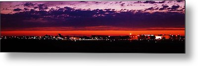 After The Sunset At Gerald R Ford Airport Metal Print by Rosemarie E Seppala