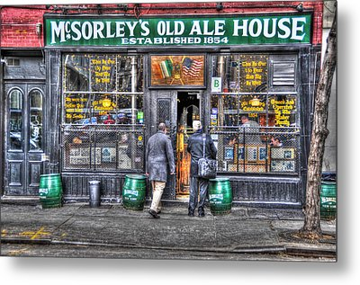 Afternoon At Mcsorley's Metal Print by Randy Aveille