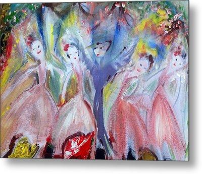 Afternoon Bird Ballet Metal Print by Judith Desrosiers