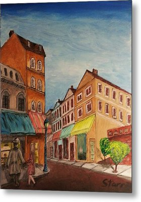 Afternoon Cafe Metal Print by Irving Starr