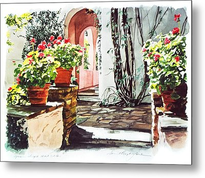 Afternoon Delight - Hotel Bel-air Metal Print by David Lloyd Glover