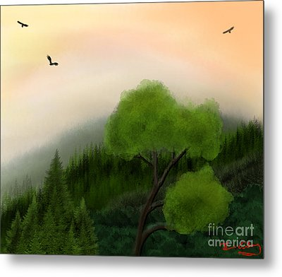 Afternoon Hills Metal Print