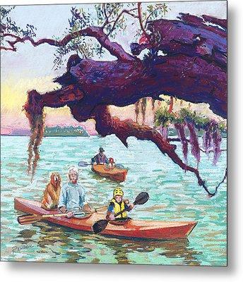 Afternoon Kayak Metal Print