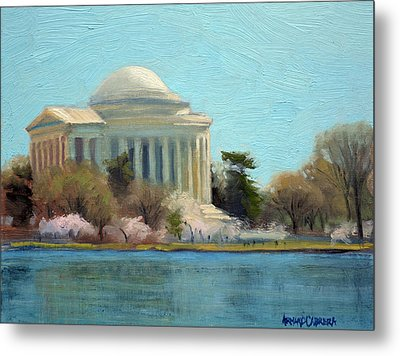 Afternoon Light Jefferson Memorial Metal Print