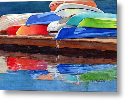 Afternoon Pileup Metal Print by Judy Mercer