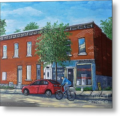 Afternoon Ride Pointe St Charles Metal Print by Reb Frost