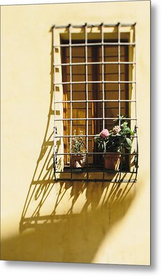 Afternoon Shadow In Montepulciano Metal Print by Clint Brewer