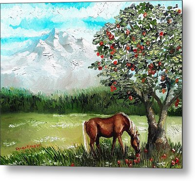 Afternoon Snack  Metal Print by Shana Rowe Jackson