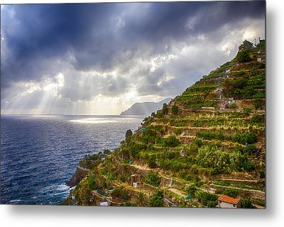 Afternoon Storm Clouds Over The Sea Metal Print