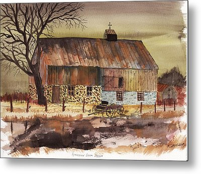 Metal Print featuring the painting Afternoon Storm Passed by Jack G  Brauer