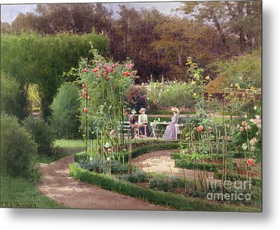 Afternoon Tea By The Laurel Arch Metal Print