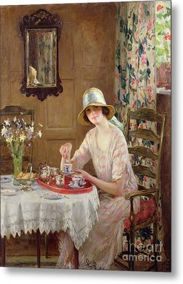 Afternoon Tea Metal Print by William Henry Margetson