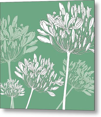 Agapanthus Breeze Metal Print by Sarah Hough