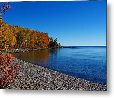 Agate Beach On Lake Superior Metal Print by Steve Anderson