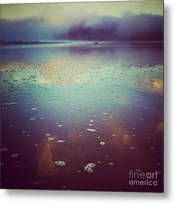 Agate Beach Reflections Metal Print