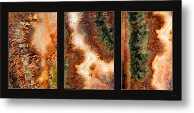 Agate Triptych 1 Metal Print by Leland D Howard