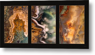 Agate Triptych 5 Metal Print by Leland D Howard