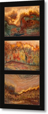 Agate Triptych 7 Metal Print by Leland D Howard
