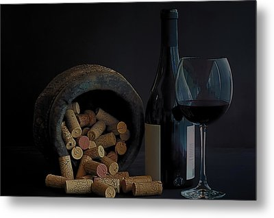 Metal Print featuring the photograph Aged Wine by Marwan Khoury