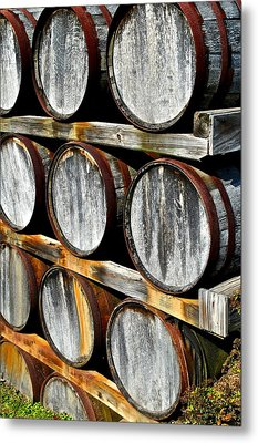 Aged Wine Metal Print by Frozen in Time Fine Art Photography