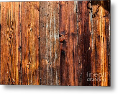 Metal Print featuring the photograph Aged Wood by Charles Lupica