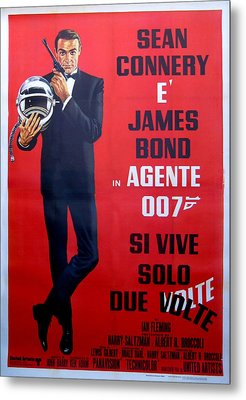 Agente 007 Si Vive Solo Due Volte Metal Print by Georgia Fowler