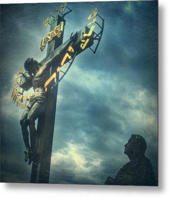 Agfacolor Jesus Metal Print by Taylan Apukovska