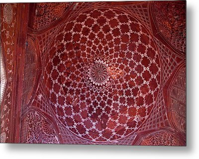 Agra, India Taj Mahal Mosque Interior Metal Print by Charles O. Cecil