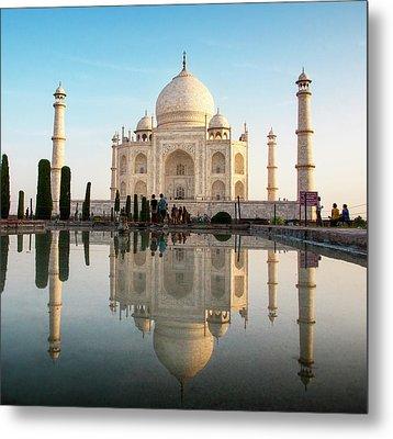 Agra, India The Taj Mahal Composite Metal Print by Janet Muir